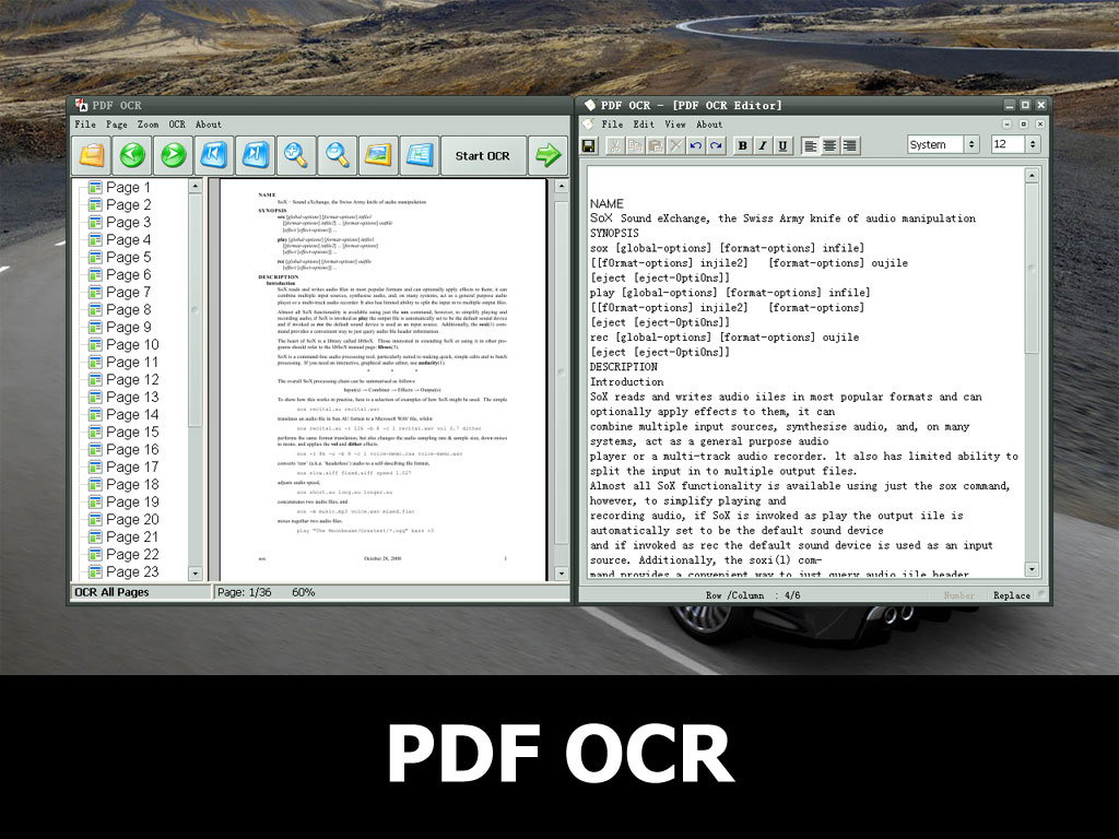PDF OCR full screenshot